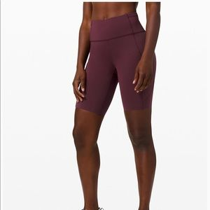 "Lululemon Fast and Free High Rise Short 10"" Cassis"